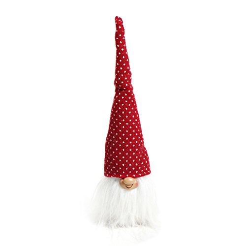Handmade Swedish Tomte,Santa - Scandinavian Gnome Plush-Christmas Gift Birthday Present - Home Ornaments Christmas Decoration Table - Santa Figurine Christmas
