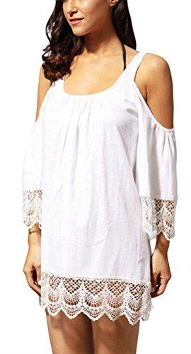 SunIfSnow - Camisas - camisa - Básico - manga 3/4 - para mujer blanco