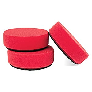 "Griot's Garage 11263 3"" Red Waxing Pad - Set of 3"