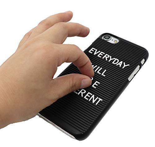 best website 2cf4b eeb34 Letter Board Phone Case for iPhone 6 & iPhone 7/8   Soft Coated DIY Unique  Cell Phone Case (Black, iPhone 6)