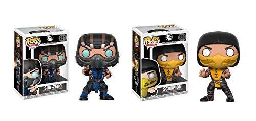 Funko POP! Games Mortal Kombat X: Sub Zero POP and Scorpion POP Toy Action Figure - 2 POP BUNDLE for $<!--$25.00-->