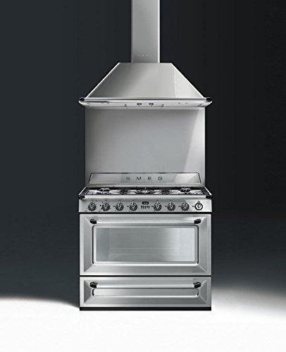 Stainless Steel Smeg TRU90X 36 Free-Standing Dual Fuel CavityVictoria Range