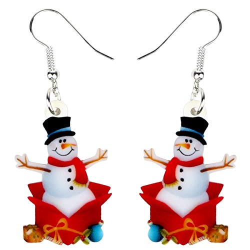 Snowmen in a Box Earrings