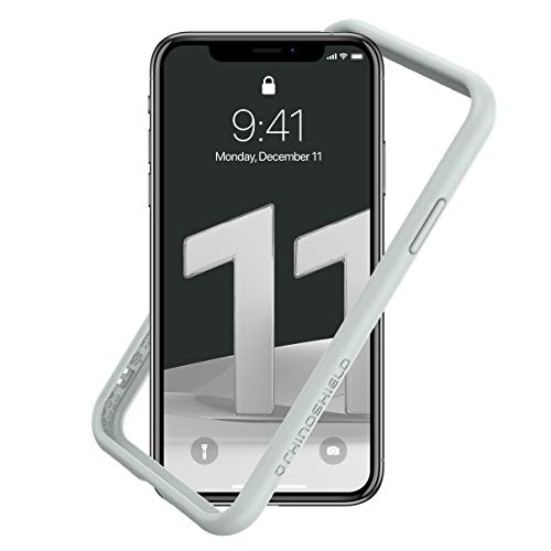RhinoShield Bumper Case for iPhone 11 / XR CrashGuard NX - Shock Absorbent Slim Design Protective Cover 3.5M/11ft Drop Protection - Platinum Gray