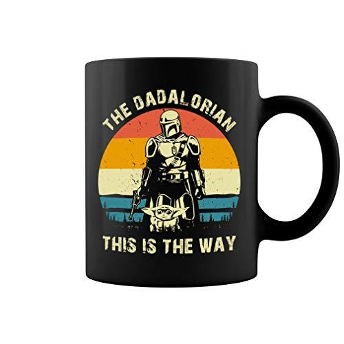 The Dadalorian This Is The Way Vintage Retro Ceramic Coffee Mug Tea Cup (Black, 11oz)