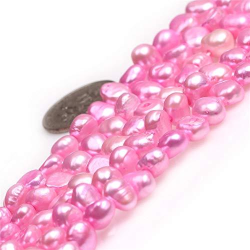 Beads Freshwater Pearl Bracelet - JOE FOREMAN 6-7mm Freshwater Cultured Pearl Semi Precious Stone Freeform Plum Loose Beads for Jewelry Making DIY Handmade Craft Supplies 15