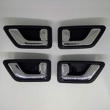 Hyundai Motors Genuine Chrome Inside Door Catch 4 Pc Set For 2002 2003 2004 2005