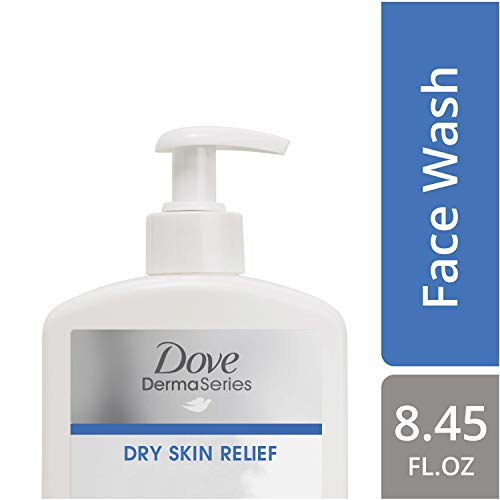 Dove DermaSeries Fragrance-Free Face Wash, for Dry Skin, 8.45 oz Pack of 6 (Dove Facial Wash)