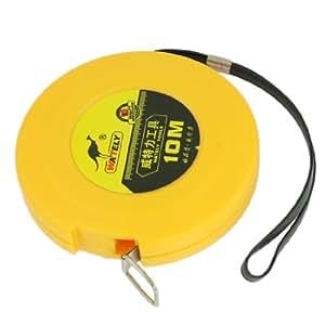 10M Yellow Plastic Case Rolling Reel Retractable Tape Measure Ruler