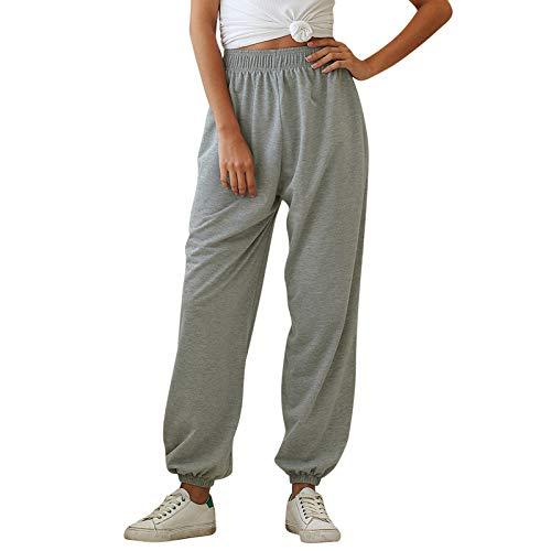 Surenow Womens Cinch Bottom Sweatpants High Waist Pockets Joggers Lightweight Yoga Hip Pop Dance Sport Running Pants…