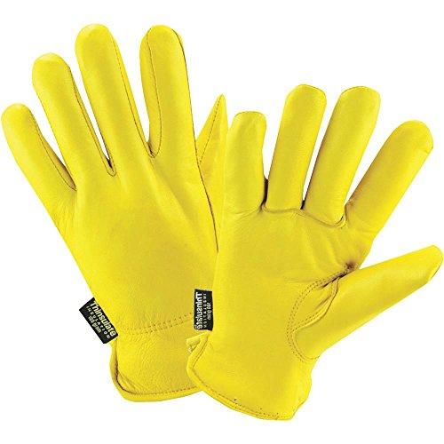 Men's Deerskin Winter Work Gloves,100-gram Thinsulate Insulation, Fleece-Lined, Large (Wells Lamont ()