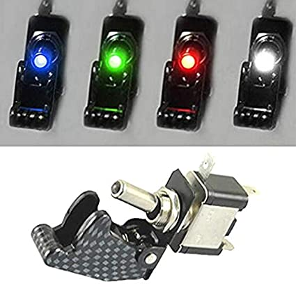 iMiMi Toggle Switch 2PCS Car Auto Switch On//Off Switch SPST Toggle Illuminated for Racing Sport Competitive Car