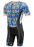 De Soto Forza Sleeved Triathlon Flisuit - 2019 - FFTS (Size Large, Blue Hive)
