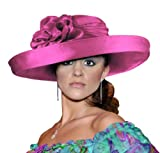 Kentucky Derby Hat with Brim 47100 Salmon