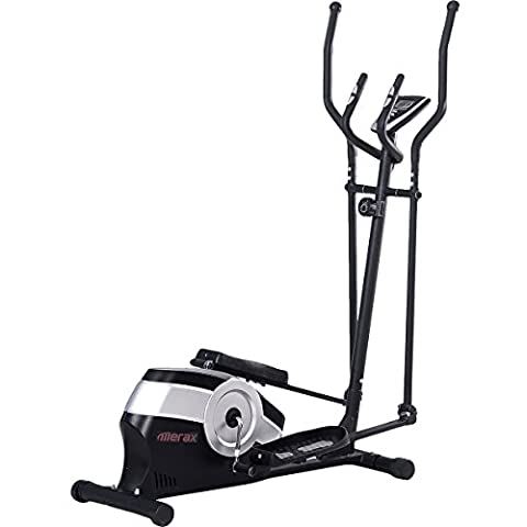 Magnetic Elliptical Trainer with LCD Monitor and Pulse Rate 8.8lb Flywheel - Home Elliptical Trainer