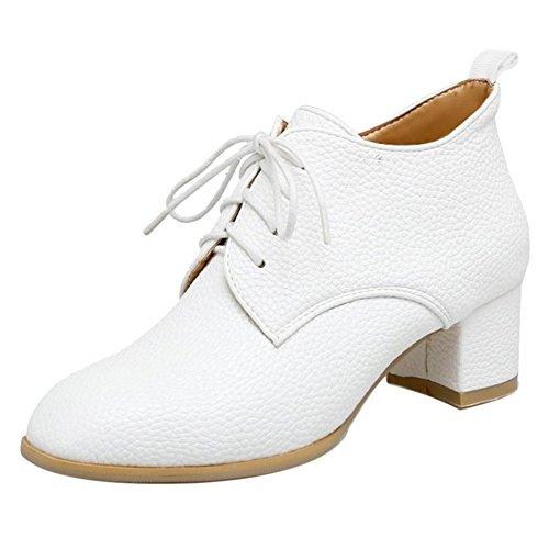Shoes White Women's Up Lace TAOFFEN wqAxIdtR