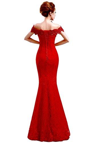 Ballkleid Lang Damen Abendkleider Babyonline® Etui Kleider Off Rotes Meerjungfrau Shoulder E0RqwBngx