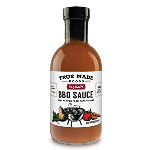 TRUE MADE FOODS, SAUCE, BBQ, VEGETABLE, Pack of 6, Size 18 OZ - No Artificial Ingredients Gluten Free Vegan Yeast Free by TRUEMD