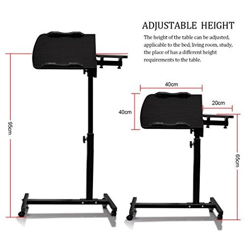 Adjustable Computer Desk Paymenow Height Rolling Laptop
