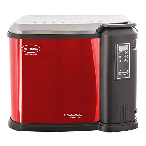 Masterbuilt Butterball XXL 1650W Digital Electric 22 lb Turkey Fryer, Cinnamon