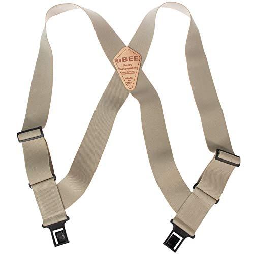 Perry Outback Comfort Suspenders 1.5 Regular Clip-On Belt Suspender - Tan