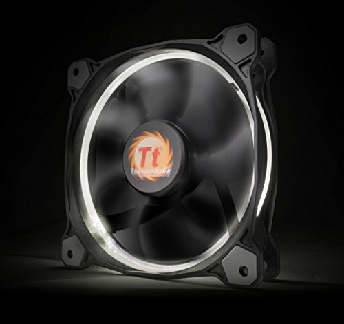 Thermaltake Ring 14 High Static Pressure 140mm Circular Ring Case//Radiator Fan with Anti-Vibration Mounting System Cooling CL-F039-PL14GR-A Green