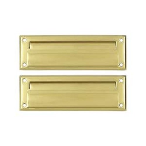 Deltana MS627U3 8 7/8-Inch Mail Slot with Solid Brass Back Plate