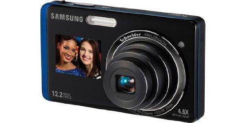 Samsung TL220 Dual View 12.2 Megapixel 4.6X Digital Camera - Black