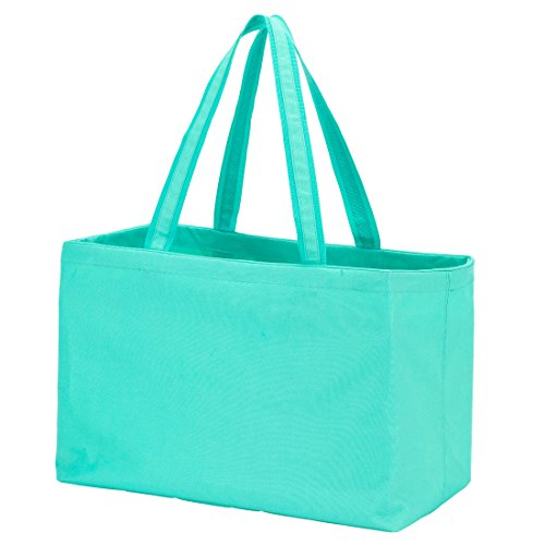 (Solid Color Ultimate Tote - Carry All Organizer Bag - A Tailgate Must This Can Be Personalized or Monogrammed (Mint))