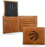 Rico Unisex Laser Engraved Billfold Wallet Raptors Laser Engraved Black Billfold Wallet