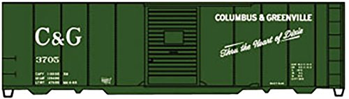 AAR 40' Single-Door Steel Boxcar - Kit -- Columbus & Greenville #3705 (green, white, Heart of Dixie Slogan) ()