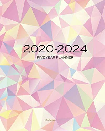 2020-2024 Five Year Planner-Pink Geometry: 60