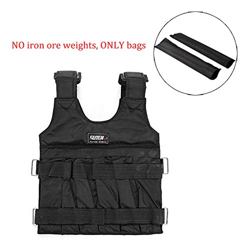 Black Adjustable 20kg Weight Training Workout Camouflage Weighted Vest Exercise Fitness (20kg)