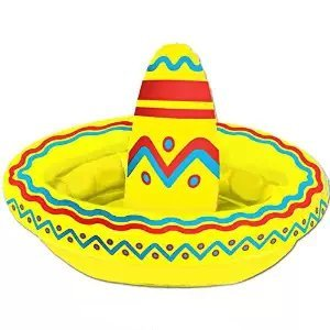 Inflatable Sombrero Cooler (Apprx for 10 12-oz Cans) Party Accessory (1 Count) (1/pkg) Pkg/12 by PMU