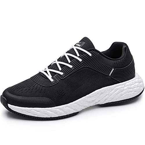 Cheap ONEMIX Lightweight Athletic Running Shoes Men Sports Cushioning Sneakers for Training Black White 11