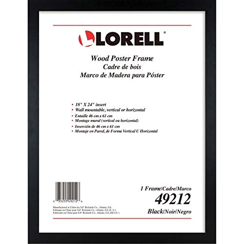 Lorell Wide Frame, 18 x 24 (49212) (Black Picture Frames 18 X 24)