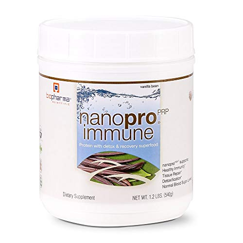 Biopharma Scientific NanoPro Immune Undenatured Whey Protein Powder | Vanilla Bean Flavor | 30 Servings | Colostrum, Iron, Calcium, Grass Fed Cows, Proline Rich Polypeptides