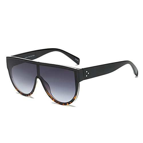 Femmes Oculos NO Lunettes siamois No Marque Lunette Street style Lunettes 7 Shades Mirror de L¨¦opard Rivets 3 Pink Red soleil Femme Violet Fygrend Mode 6aqwU6