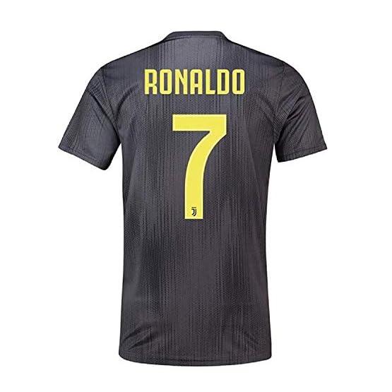Scshirt pour Homme Ronaldo Neuf Away Jerseys 18-19Juventus # 7Maillot de Football Soccer Jersey Noir-Soccer Jerseys, Soccer Jersey 2018, Soccer Jersey pour Homme Taille S
