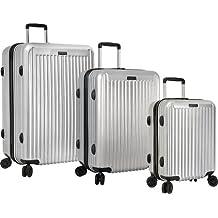 Anne Klein Dubai 3 Piece Hardside Luggage Set, Silver