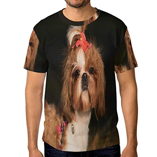 Lovexue Puppy Outdoors T Shirts for Men Top Tee Crew Neck Cotton ()