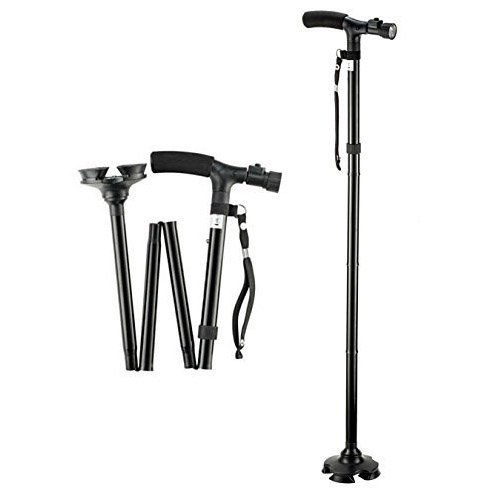 Trusty Cane with Built-In Lights (Black) - 6