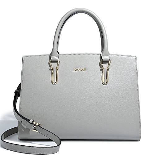 Beige Tote Purse Elegant Satchel Handbags Shoulder Leather Vintage Grey Bags Kadell Women Top Handle 6gyXwqc7