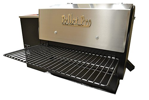 Pellet Pro 34″ x 12″ Powdercoat Folding Front Pellet Grill Shelf for Traeger, Camp Chef, etc.