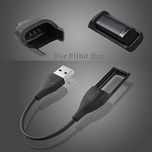 Fitbit Flex Charger, KingAcc Replacement USB Charging Cable Cord Charger Adapter for Fitbit Flex, Fitbit Flex 1, Heart Rate Fitness Wristband Smart Watch Bracelet (0.66Foot)