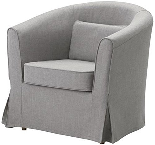 Easy Fit The Ektorp Tullsta Chair Cover Replacement is Custom Made for IKEA Tullsta Cover, A Armchair Sofa Slipcover Replacement (Light Gray Cotton) (Armchairs Covers)