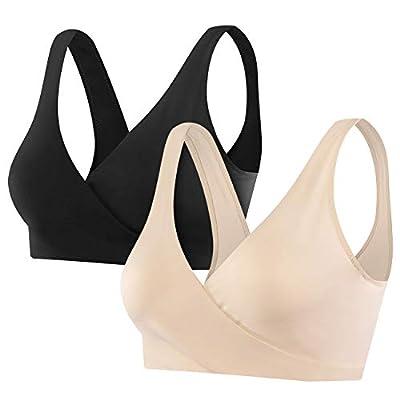 Sunzel Women's Cotton Spandex Seamless Sleep Bra for Nursing and Maternity at Women's Clothing store