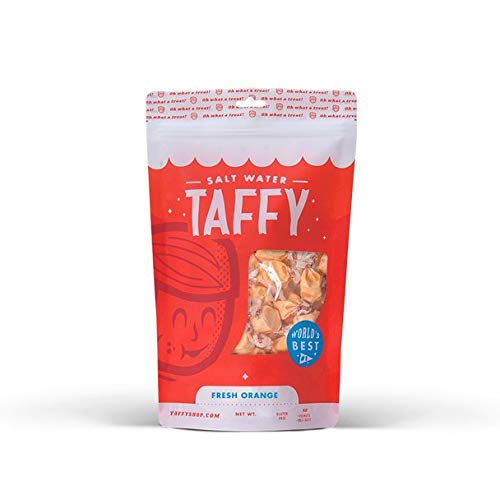 Taffy Shop Fresh Orange Salt Water Taffy - 1/2 LB Bag