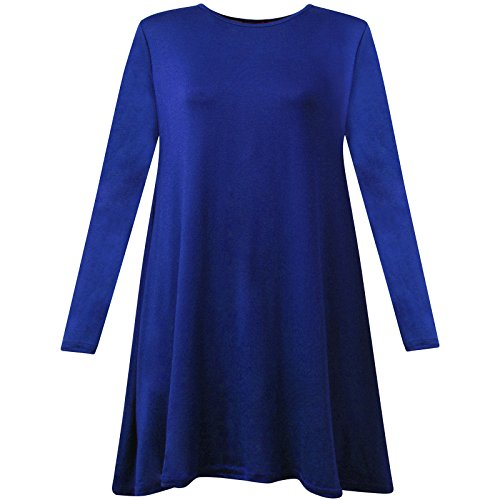 REAL LIFE FASHION LTD - Vestido - Manga Larga - para mujer azul real