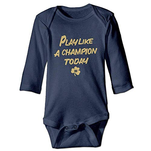 - Kids Baby Notre Dame Fighting Irish Play Like A Champion Romper Jumpsuit Navy